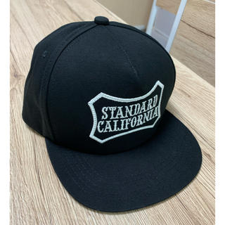 STANDARD CALIFORNIA - スタンダードカリフォルニア キャップ ブラック 黒 綿100% 帽子 スナップ