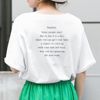 サニーレーベル(Sonny Label)のバックプリントルーズTシャツ WEB限定(Tシャツ(半袖/袖なし))