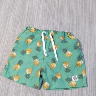 プティマイン(petit main)の美品 プティマイン スイムパンツ 男の子 90 パイナップル柄 グリーン(水着)
