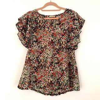 オンザカウチonthecouth 花柄シフォンブラウスチュニックドレスシャツ