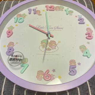 サンリオ(サンリオ)のリトルツインスターズ 壁掛け時計(掛時計/柱時計)