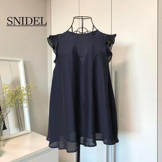 snidel - 【美品】スナイデル ノースリ―フレアチュニック