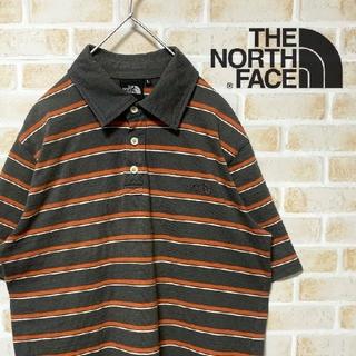 ザノースフェイス(THE NORTH FACE)の【人気沸騰】古着屋購入 ザ ノースフェイス ボーダー ポロシャツ サイズL(ポロシャツ)