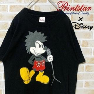 ディズニー(Disney)の【激レア】古着屋購入 パンク ロック風 ミッキー Tシャツ サイズM 相当(Tシャツ/カットソー(半袖/袖なし))