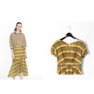 GRACE CONTINENTAL - 切り替えチェックトップ&スカート