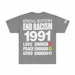 Infinite Archives End Racism Tee Grey L
