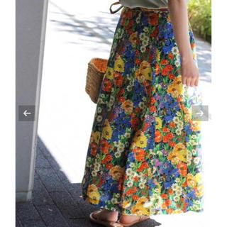 IENA - IENA IENA LA BOUCLE フラワープリント ラップスカート