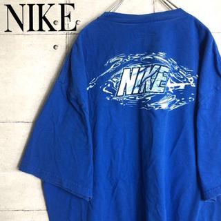 NIKE - ナイキ☆Tシャツ【ビッグロゴ】【スウォッシュ】【ビッグシルエット】2XL ブルー