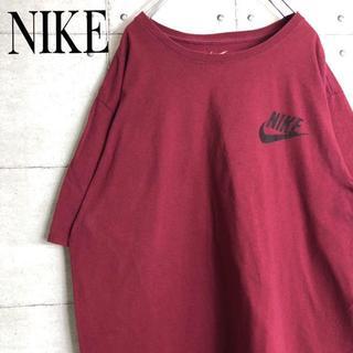 NIKE - ナイキ☆Tシャツ【ビッグシルエット】【ワンポイントロゴ】【90s】スウォッシュ
