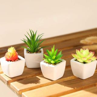 ❣️お部屋の癒しに❣️いい生活4点セット人工多肉植物 ミニ 植物鉢植え 観葉植物
