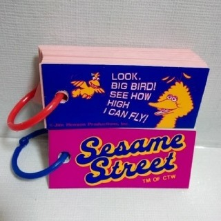 セサミストリート(SESAME STREET)の【送料込み】セサミストリート 単語帳 2冊(ノート/メモ帳/ふせん)