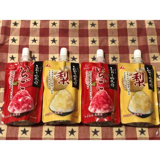 井村屋 こだわりの氷みつ 4袋 梨 いちご かき氷シロップ 氷みつ かき氷 みつ(その他)