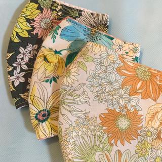 手作り花柄マスクカバー 3点セット