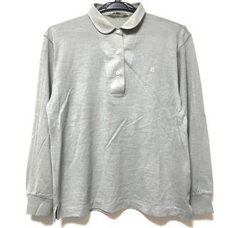 ジバンシィ(GIVENCHY)のジバンシー 長袖ポロシャツ サイズL グレー(ポロシャツ)