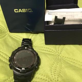 カシオ(CASIO)のプロトレック PRW-3000YT-1JFチタンバンド(腕時計(デジタル))