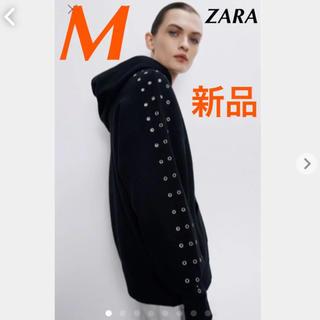 ZARA - 【新品タグ付き】ZARA スタッズ付きスウェットシャツ ニット M 完売品