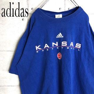adidas - アディダス☆Tシャツ【ビッグロゴ】【ビッグシルエット】【ブルー】XL【90s】