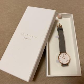 ダニエルウェリントン(Daniel Wellington)のROSEFIELD グレー 時計(腕時計)