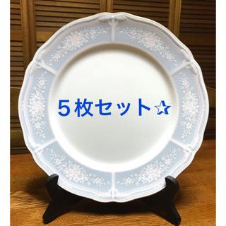 ノリタケ(Noritake)のNoritake レースウッドゴールドシリーズプレート27㎝皿 5枚セット✰︎(食器)