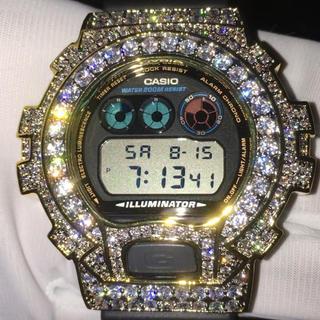 ジーショック(G-SHOCK)の■超豪華■13.5ct VVSダイヤ(cz) G-Shock 18KGPゴールド(腕時計(デジタル))