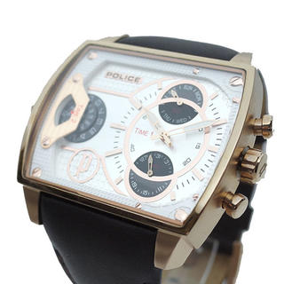ポリス(POLICE)のポリス POLICE 腕時計 メンズ スコーピオン クォーツ ホワイト ブラウン(腕時計(アナログ))