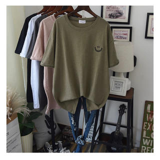 半袖 Tシャツ シンプル スマイル