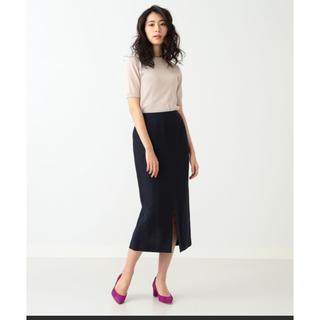 デミルクスビームス(Demi-Luxe BEAMS)のデミルクスビームス リネンレーヨンタイトスカート(ひざ丈スカート)