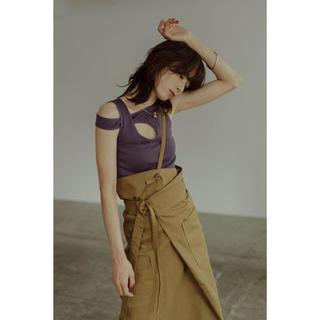 ビューティアンドユースユナイテッドアローズ(BEAUTY&YOUTH UNITED ARROWS)のlittlesuzie リトルスージー ワンショルダー ラップスカート(ロングスカート)