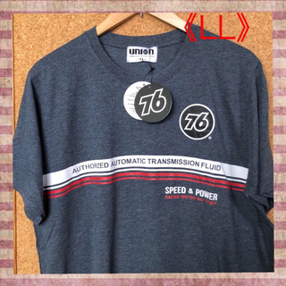 76 Lubricants - 【ユニオン76】黒丸レッドライン&バックプリントインパクト‼️半袖Tシャツ