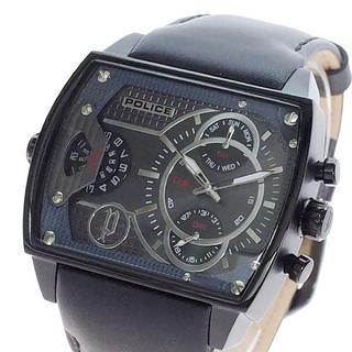 ポリス(POLICE)のPOLICE 腕時計 メンズ スコーピオン SCORPION クォーツ ブラック(腕時計(アナログ))