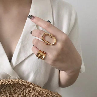 ユナイテッドアローズ(UNITED ARROWS)の大ぶりゴールドリング♡(リング(指輪))