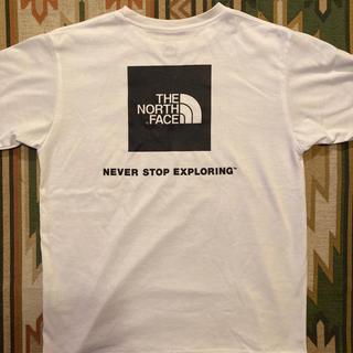 THE NORTH FACE - ノースフェイス northface  Tシャツ Lサイズ 紺ロゴ
