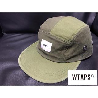 W)taps - ダブルタップス 18AW コットンジェットキャップ 5パネル  帽子 カーキ