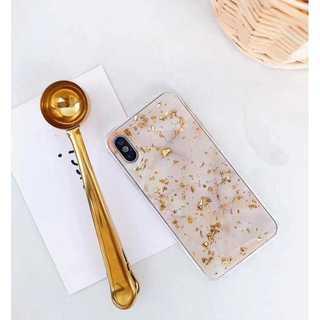 大理石 金箔 iPhone ケース ホワイト 7Plus/8Plus