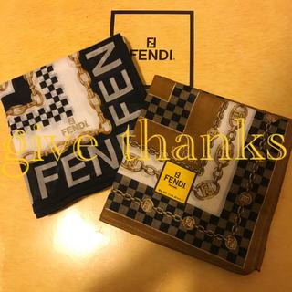 FENDI - 専用 フェンディ   ハンカチスカーフ 2枚セット