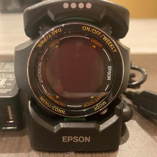 エプソン(EPSON)のエプソン 腕時計 SF-850PB ブラック(腕時計(デジタル))