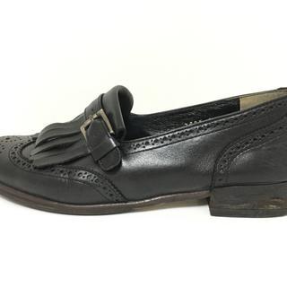 マーガレットハウエル(MARGARET HOWELL)のマーガレットハウエル ローファー 22 - 黒(ローファー/革靴)