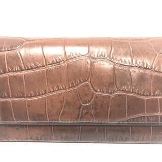 マルニ(Marni)のマルニ 長財布 ダークブラウン 型押し加工(財布)