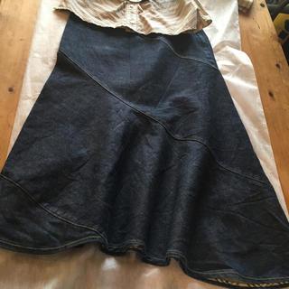 バーバリー(BURBERRY)のデニムフレアロングスカート(ロングスカート)