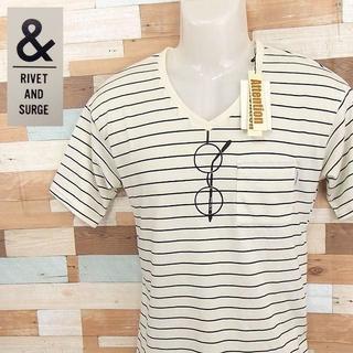 【rivet&surge】 美品 タグ付け リベットアンドサージ ホワイト半袖T
