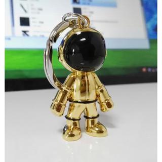 アニエスベー(agnes b.)のアニエスベー ロボットキーホルダー ゴールド 新品未使用品(キーホルダー)