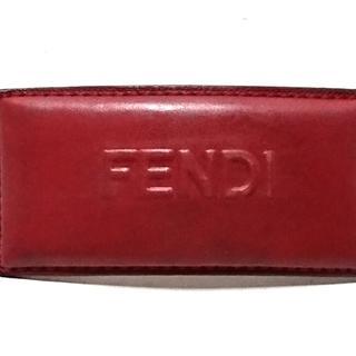 フェンディ(FENDI)のFENDI(フェンディ) バレッタ レザー レッド(バレッタ/ヘアクリップ)