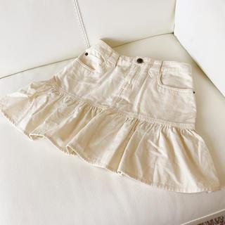 ポロラルフローレン(POLO RALPH LAUREN)のポロ ラルフローレン コーデュロイ スカート オフホワイト 150cm(スカート)