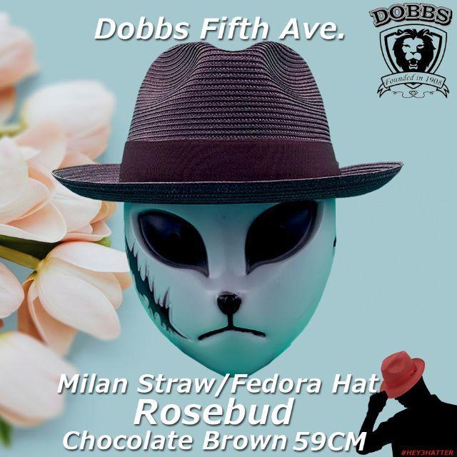 Borsalino(ボルサリーノ)のドブズ★ローズバッド・チョコレートブラウン59CM【ミランストロー】 メンズの帽子(ハット)の商品写真