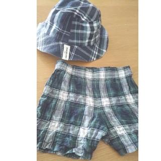 ハッカキッズ(hakka kids)のパンツ(80センチ相当)&帽子(パンツ)