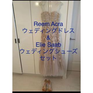 エリーサーブ(ELIE SAAB)のReem Acra ウェディングドレス& Elie Saab シューズセット(ウェディングドレス)