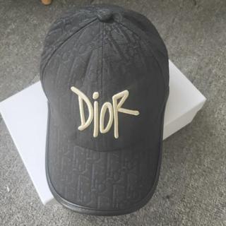 ディオール(Dior)のDIOR AND SHAWN ロゴ キャップ (キャップ)