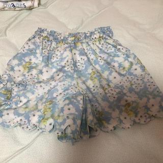 ポンポネット(pom ponette)のポンポネット★花柄 キュロット スカート150(スカート)