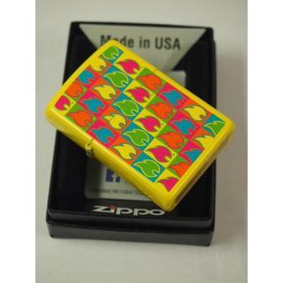 ジッポー(ZIPPO)のZippo Boxed Flams レモンマット #28954 ファイヤー ロゴ(タバコグッズ)
