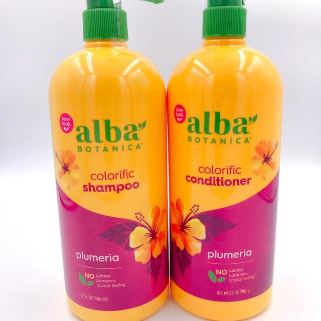 ALBA(アルバ)の大人気 アルバボタニカ ハワイアンシャンプー&コンディショナー プルメリア コスメ/美容のヘアケア/スタイリング(シャンプー/コンディショナーセット)の商品写真
